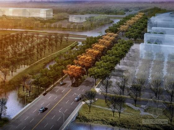 [江苏]城市沿街道路景观规划设计方案(北京著名景观设计公司)