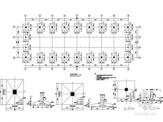底部框架屋顶门式刚架结构原料仓库结构图