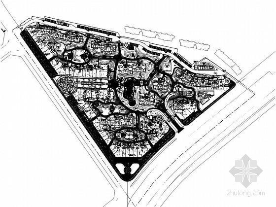 [湖北]欧式花园居住小区全套景观工程施工图纸