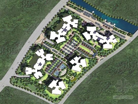 [广州]滨湖小镇住宅区景观规划设计方案