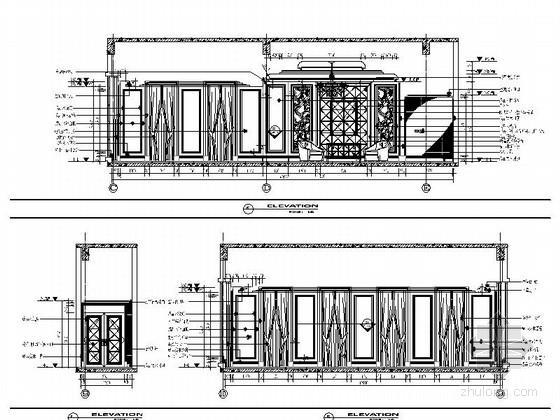 [苏州]奢华欧式风格商务会所四层卧室休息区室内装修图(含效果)卧室立面