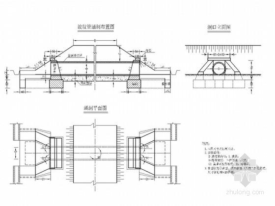 [河北]跨径0.3-8.0m钢波纹管涵设计通用图35张