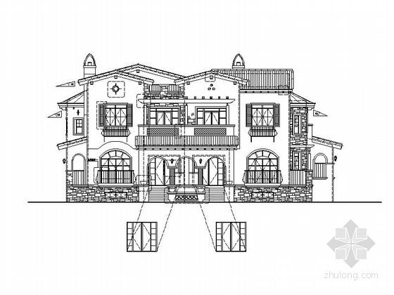 [辽宁]地中海风格别墅建筑施工图(含建筑、结构、水暖电整套)