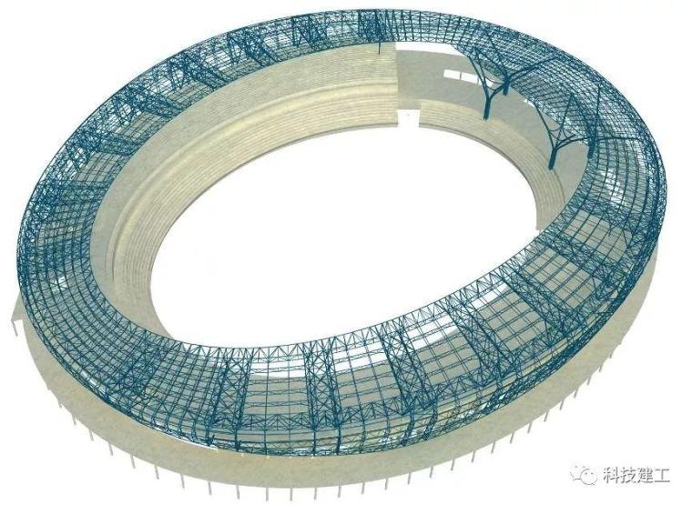 体育场径向环形大悬挑钢结构综合施工技术研究_2