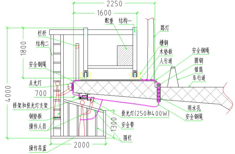 长江大桥景观项目夜景灯饰工程施工方案