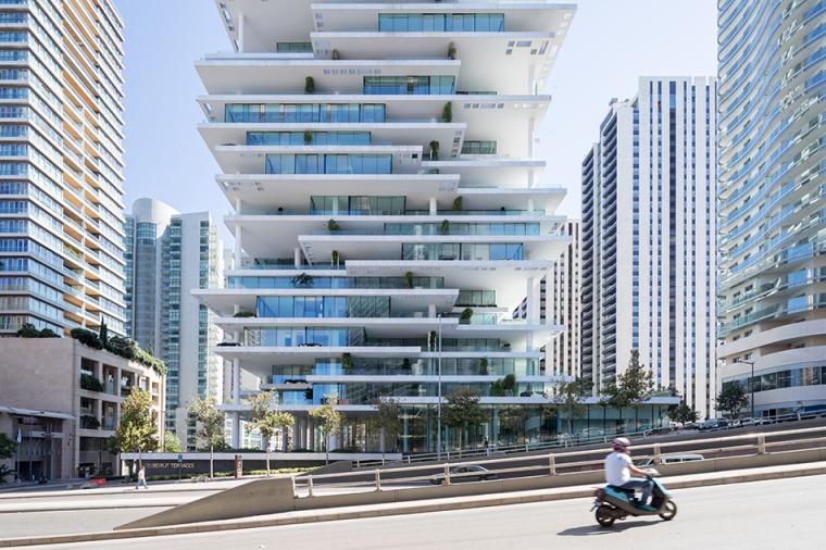 黎巴嫩层叠摩天大楼住宅