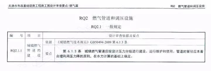 燃气工程水力计算——施工图审查要点学习笔记之RQ2.1