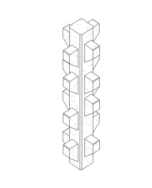 预制-带多层牛腿的矩形柱