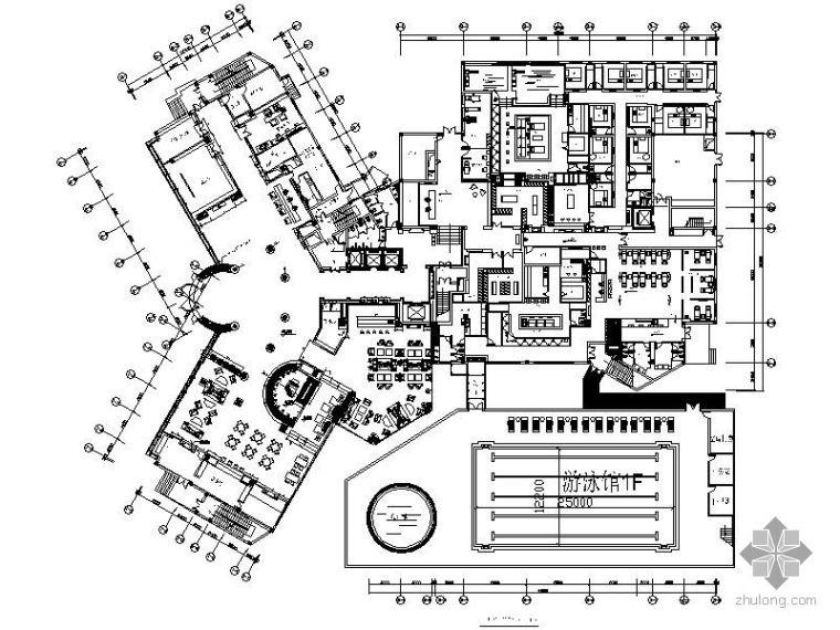 四星级酒店平面布置图