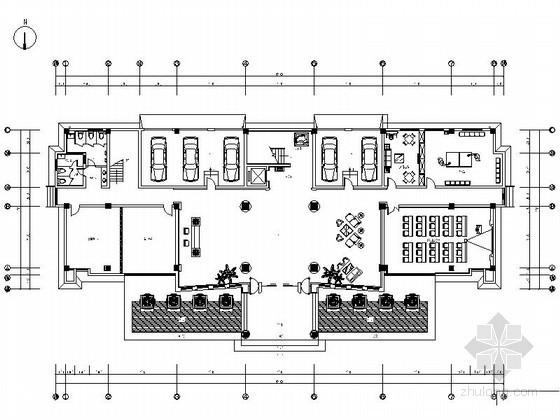 [苏州]某集团办公楼中式风格室内装修图(含效果)