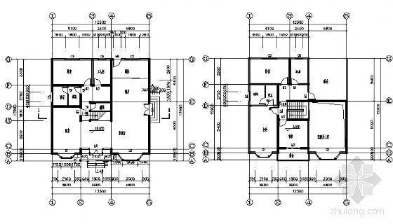 某二层别墅建筑方案图-3