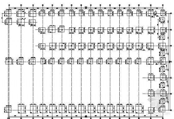 某双连跨钢结构厂房结构图纸