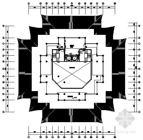 风景区七层楼阁电气施工图纸