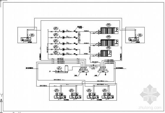 风冷热泵冷热水系统流程图