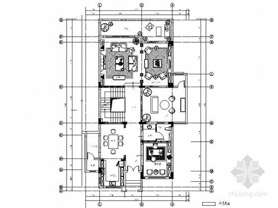 [重庆]国际社区英格兰新乡村别墅样板间装修施工图(含效果)