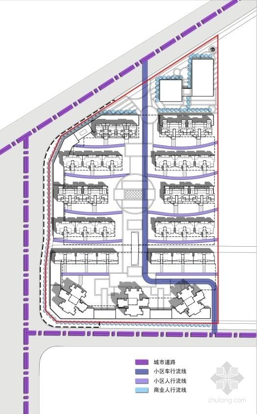 高层塔楼式住宅楼建筑分析图