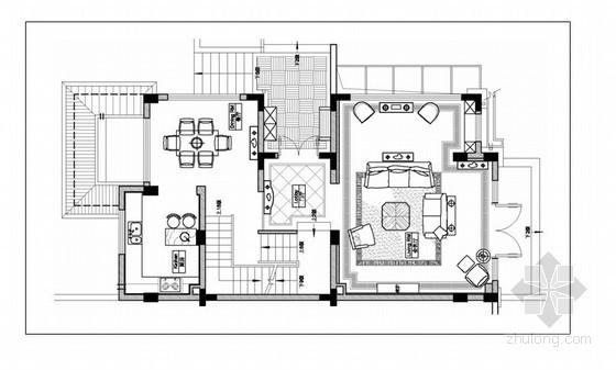 美式三层别墅样板房装修方案