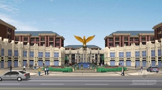 [山东]国际都市静雅住宅区规划设计方案-景观效果图