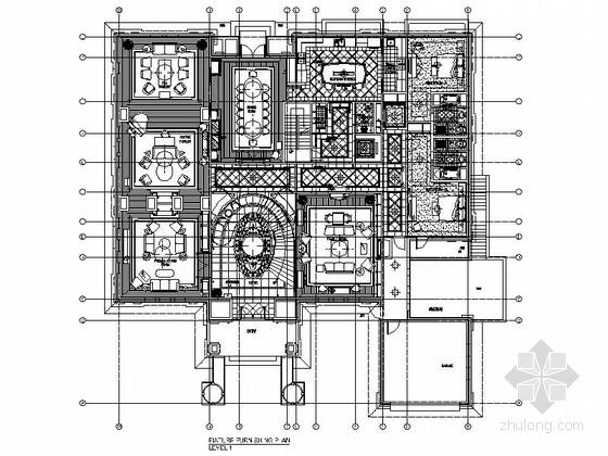 [北京]中国顶级独栋欧式风格两层别墅装修施工图(含效果及实景)