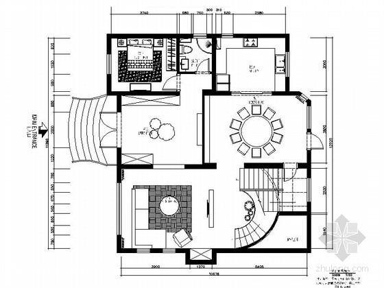 典雅东南亚风情三层别墅样板间CAD装修施工图(含软装方案)