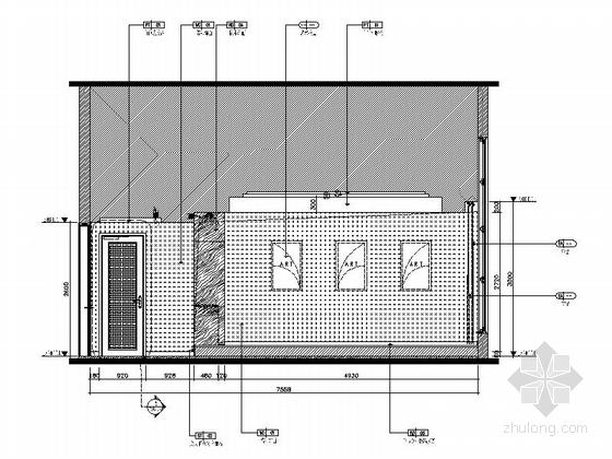[重庆]徐家汇高档四星级酒店全套装修图包房立面图