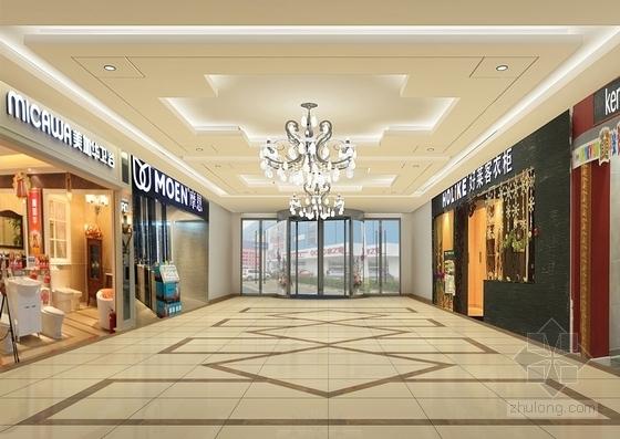 [内蒙古]大型家居建材主题购物中心施工图(含效果图) 效果图
