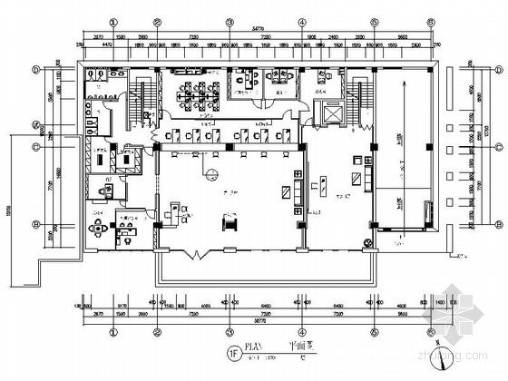 [江苏]现代全国性综合财产保险分公司办公空间装修施工图(含效果及实景)