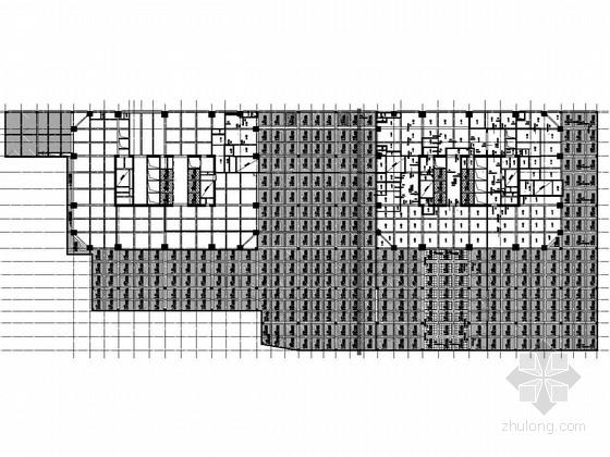 41层框架核心筒结构商业办公楼结构施工图(办公楼 购物中心 停车场)