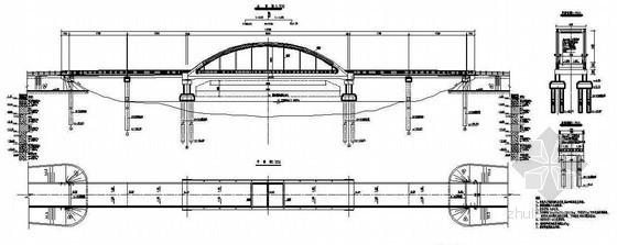 预应力系杆拱结构下承式大桥全套cad设计图纸