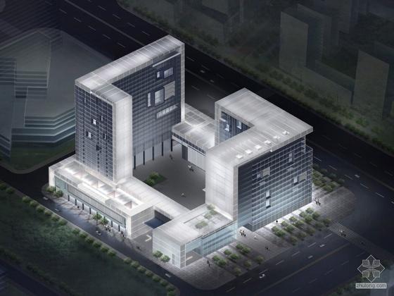 [南京]河西新城某号地块写字楼建筑方案文本