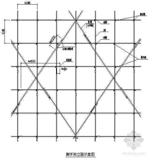 江苏某高层办公楼工程脚手架施工方案(落地式、悬挑式)