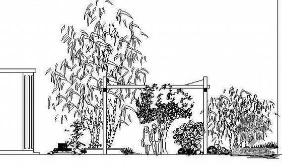 某别墅庭院绿化的全套图纸