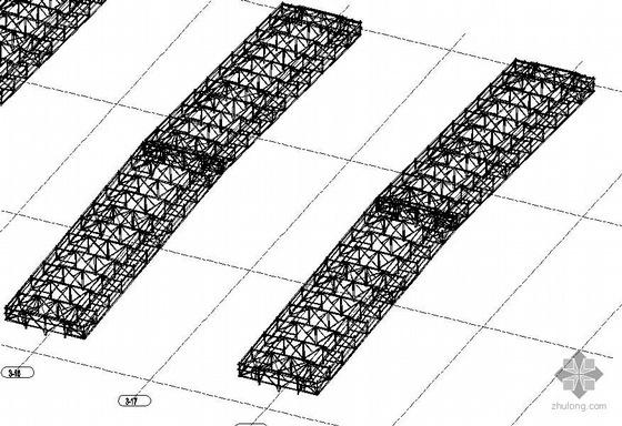 天津某1750㎡热轧工程主厂房天窗钢结构图纸