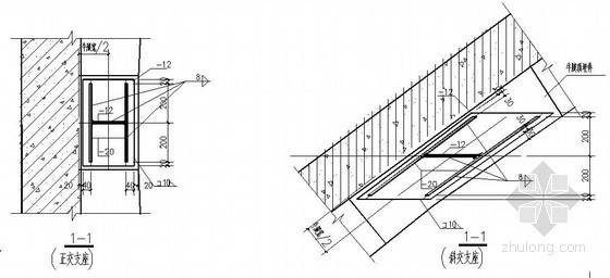 钢烟囱钢平台节点详图