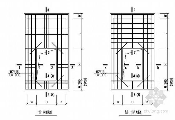 门框墙节点构造详图