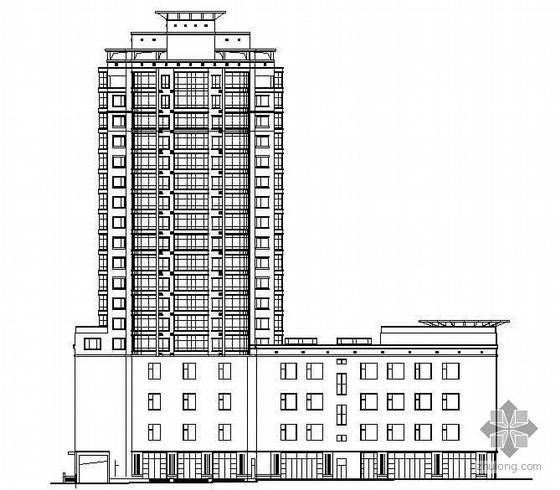 某十八层商住楼建筑施工图(含效果图)