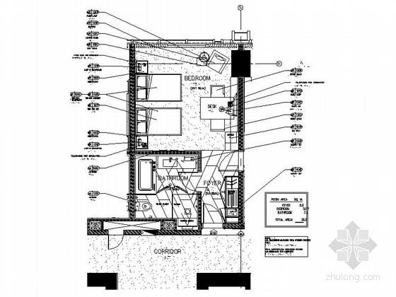 [江苏]无锡某豪华全球连锁酒店标准双床深化施工图(含意向图)