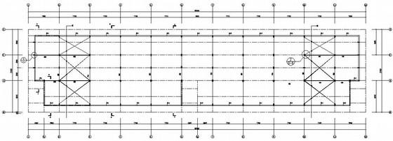 框架结构钢屋架美食街结构施工图