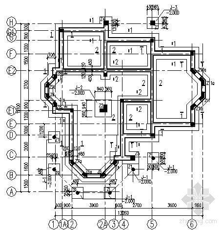 某两层砖混结构别墅图纸