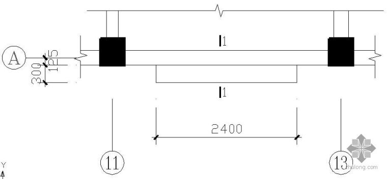 某窗台板结构平面节点构造详图