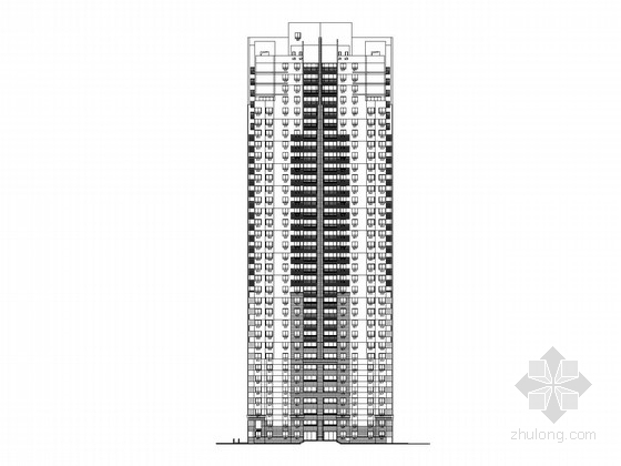 [上海]34层高层商业综合体建筑施工图(附图丰富)