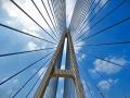 双塔双索面预应力混凝土斜拉桥施工动画演示