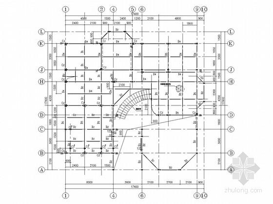 三层门式刚架结构别墅结构施工图