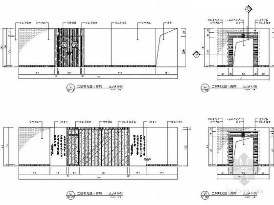[江苏]历史文化名城高档现代风格星级宾馆装修施工图(含效果)服务区立面图