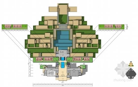 [鄂尔多斯]黄河文化主题星级山地酒店建筑设计方案文本-黄河文化主题星级山地酒店各层平面图