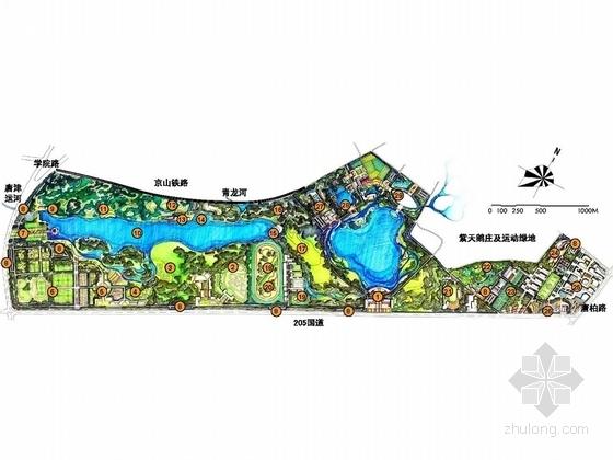 [唐山]体育休闲示范区园林景观设计规划方案