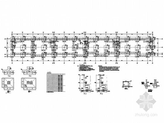 [山东]两栋地上二层框架结构商业街结构施工图(局部三层)
