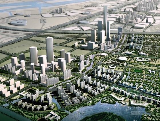 知名片区规划及单体建筑效果图