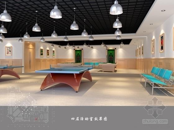 [江苏]现代简洁某银行活动室效果图