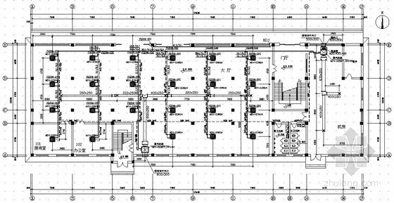 某办公楼多联机中央空调设计图纸